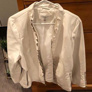 White Faux leather Blazer